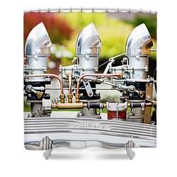 Shower Curtain featuring the photograph Edelbrock Side View by Chris Dutton