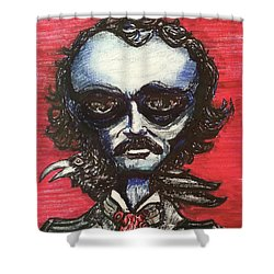Edgar Alien Poe Shower Curtain