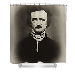 Edgar Allen Poe Shower Curtain by Bill Cannon