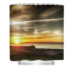 Edge Of The Earth Shower Curtain
