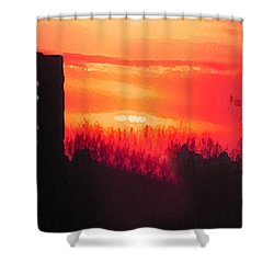 Edge Of Town Shower Curtain