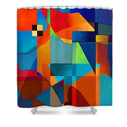Edges Shower Curtain