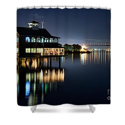 Edgewater Grill Shower Curtain by Eddie Yerkish