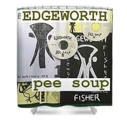 Edgeworth Pee Soup Album Cover Design Shower Curtain