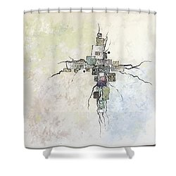 Edgy Shower Curtain