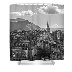 Edinburgh - Arthur's Seat Shower Curtain by Amy Fearn