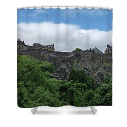 Shower Curtain featuring the photograph Edinburgh Castle In Scotland by Jeremy Lavender Photography