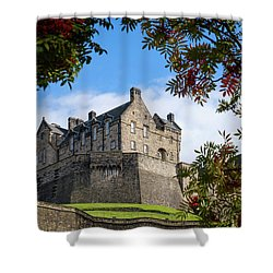 Shower Curtain featuring the photograph Edinburgh Castle by RKAB Works