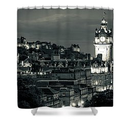 Edinburgh In Black And White Shower Curtain