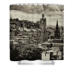 Shower Curtain featuring the photograph Edinburgh In Scotland by Jeremy Lavender Photography