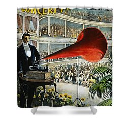 Edison Phonograph Ad, 1899 Shower Curtain by Granger