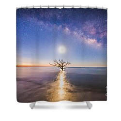 Edisto Island Milky Way Shower Curtain by Robert Loe