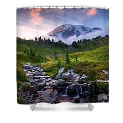 Shower Curtain featuring the photograph Edith Creek Sunset by Dan Mihai