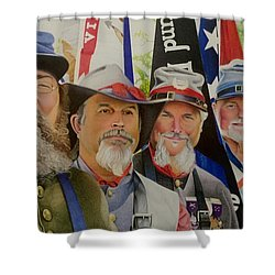Edmund Ruffin Fire Eaters Color Guard 2016 Shower Curtain by David Hoque