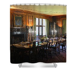 Shower Curtain featuring the photograph Edsel And Eleanor Ford Dining Room by Michael Rucker