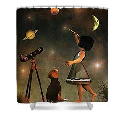 Educating Astronomy Shower Curtain