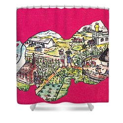 Education Et Citoyennete Au Rwanda Shower Curtain