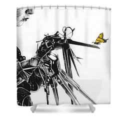 Edward And A Butterfly Shower Curtain