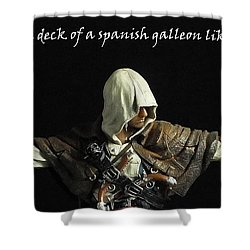 Edward Kenway Shower Curtain