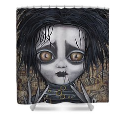 Edward Scissorhands Shower Curtain by Abril Andrade Griffith