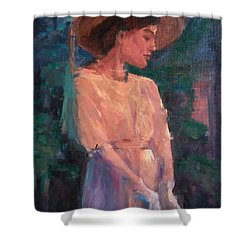 Edwardian Katie #1 Shower Curtain by Brian Kardell