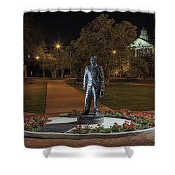 Shower Curtain featuring the photograph Edwin Stephens At Night by Gregory Daley  PPSA