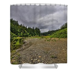 Eel River Hdr Shower Curtain