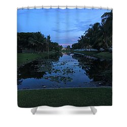 Eerie Canal Shower Curtain