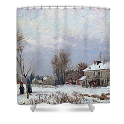 Effects Of Snow Shower Curtain by Camille Pissarro