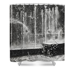 Effervescence Fountain In Milano Italy Shower Curtain by Kelly Borsheim