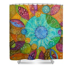 Effervescent Shower Curtain by Tanielle Childers