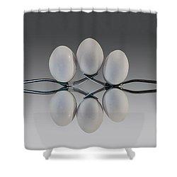 Egg Balance Shower Curtain