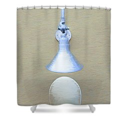 Shower Curtain featuring the photograph Egg Drop Lamp by Gary Slawsky