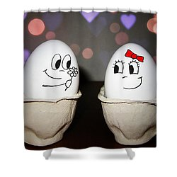 Egg Love Shower Curtain by Nicklas Gustafsson