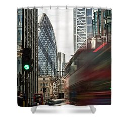 Egg Shaped Building A Shower Curtain