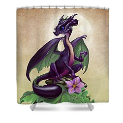 Shower Curtain featuring the digital art Eggplant Dragon by Stanley Morrison