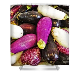 Eggplant Medley Shower Curtain by Dee Flouton