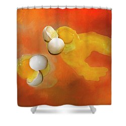 Shower Curtain featuring the photograph Eggs by Carolyn Marshall