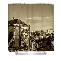Shower Curtain featuring the photograph Eglise De Saint Catherine by Pravine Chester