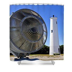 Egmont Key Lighthouse 1858 Shower Curtain by David Lee Thompson