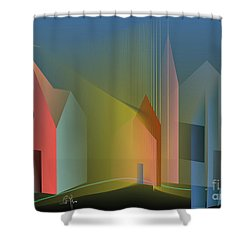 Ego Sum Via Veritas Et Vita Shower Curtain by Leo Symon