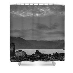 Egol Beach On The Isle Of Skye In Scotland Shower Curtain