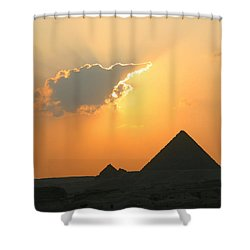 Egpytian Sunset Behind Cloud Shower Curtain