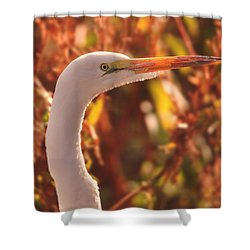 Egret  Shower Curtain