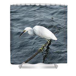Egret On The Munch Shower Curtain
