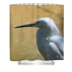 Egret Pose Shower Curtain