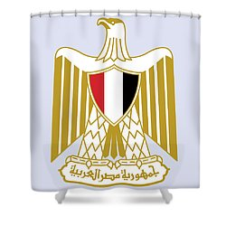 Egypt Coat Of Arms Shower Curtain by Movie Poster Prints