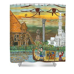 Egypt   Jan Shower Curtain