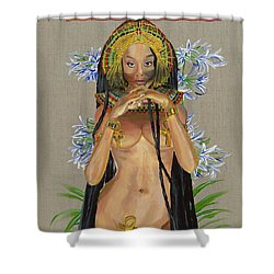Shower Curtain featuring the painting Egyptian Cotton by Baroquen Krafts