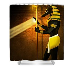 Egyptian God Anubis Shower Curtain by John Wills